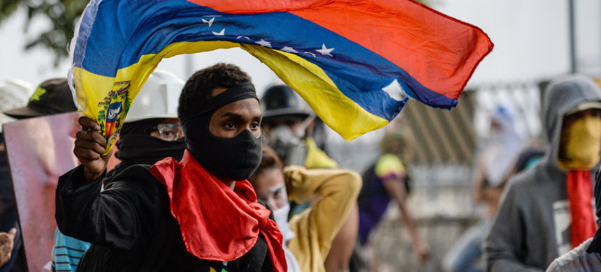 Venezuelan protesters. (photo: Federico Parra/Getty)