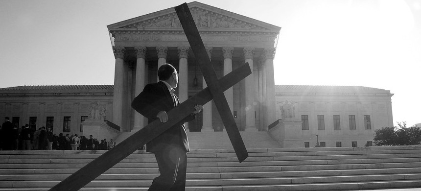 In recent years, conservatives have contrived ways to obtain government money for religious entities, and the Supreme Court has been more sympathetic to the lawyers representing them. (photo: Mark Wilson/Getty)