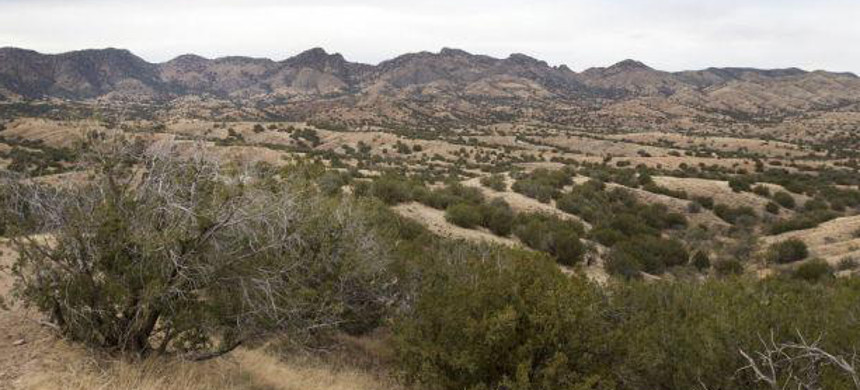 The site of the proposed Rosemont Mine in the Santa Rita Mountains southeast of Tucson. If the final permit goes through, Hudbay Minerals Inc. expects to start mining there in 2022. (photo: Mike Christy/Arizona Daily Star)
