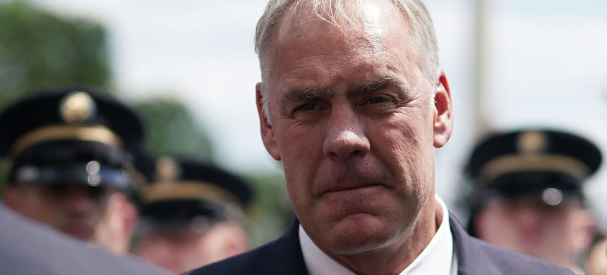 Former Secretary of the Interior Ryan Zinke. (photo: Alex Wong)