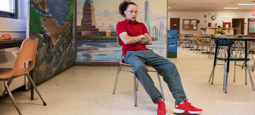 Ramsey Orta is currently serving his time in Groveland Correctional Facility. His release date is December 2019 and he has been in prison since October 2016. (photo: Amelia Holowaty Krales/The Verge)