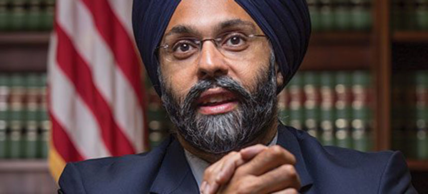 New Jersey attorney general Gurbir Grewal. (photo: Fred Conrad/NJ Monthly)
