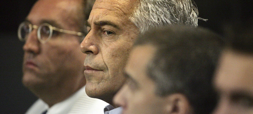 Jeffrey Epstein in custody in West Palm Beach, Fla., in 2008. (photo: AP)