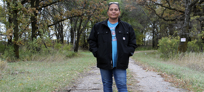 Lissa Yellowbird-Chase first started searching for missing people after a 29-year-old oil field worker disappeared from the Fort Berthold Reservation. (photo: Jessica Lussenhop/BBC)