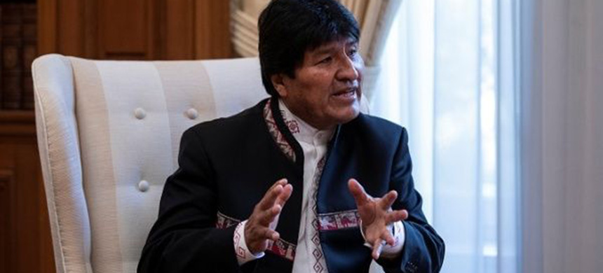President Evo Morales. (photo: Reuters)