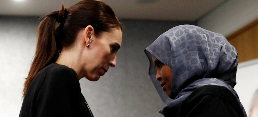 Plans for law changes were first announced by Prime Minister Jacinda Ardern (left) in the days after the attacks. (photo: Edgar Su/Reuters)