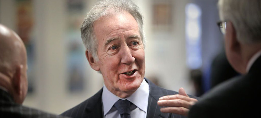 Richard Neal speaks with Teamsters in Boston. (photo: Lane Turner/Getty)