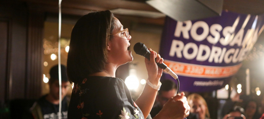 Democratic socialist Rossana Rodriguez-Sanchez is currently in the lead in her city council race. (photo: Kelly Viselman)