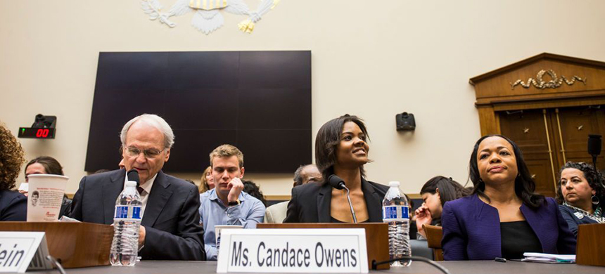 Candace Owens of the conservative group Turning Point USA arrives before testifying during a house judiciary committee hearing discussing hate crimes and the rise of white nationalism on Capitol Hill. (photo: Zach Gibson/Getty Images)