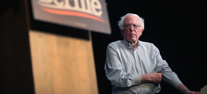 Senator Bernie Sanders plans to reintroduce his Medicare-for-all single-payer health care plan. (photo: Scott Olson/Getty)
