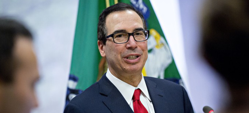 Treasury Secretary Steven Mnuchin. (photo: Bloomberg News)