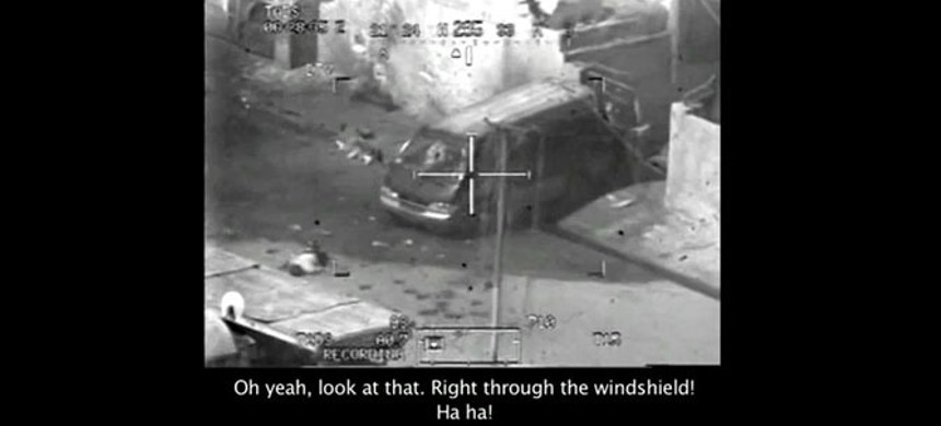 A screengrab from 'Collateral Murder' video of a 2007 attack in Baghdad, released by WikiLeaks. (photo: WikiLeaks)