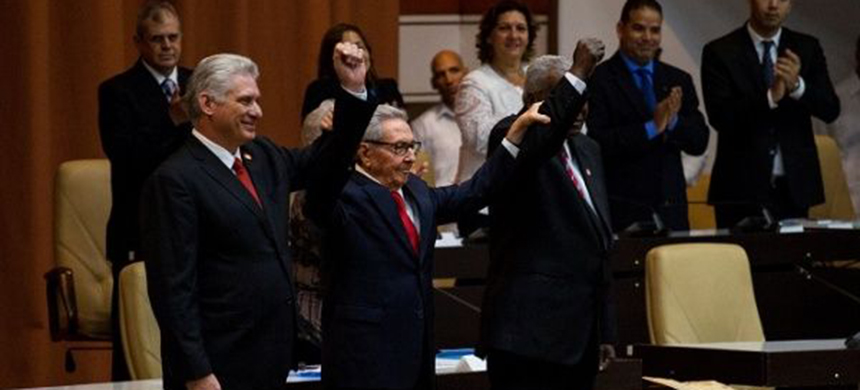 Cuban President Miguel Diaz-Canel (L) accuses U.S. for destroying Cuba-U.S. relationship. (photo: Reuters)