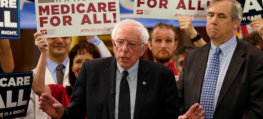 Bernie Sanders speaks at a news conference on Capitol Hill in Washington. (photo: Aaron P. Bernstein/Reuters)