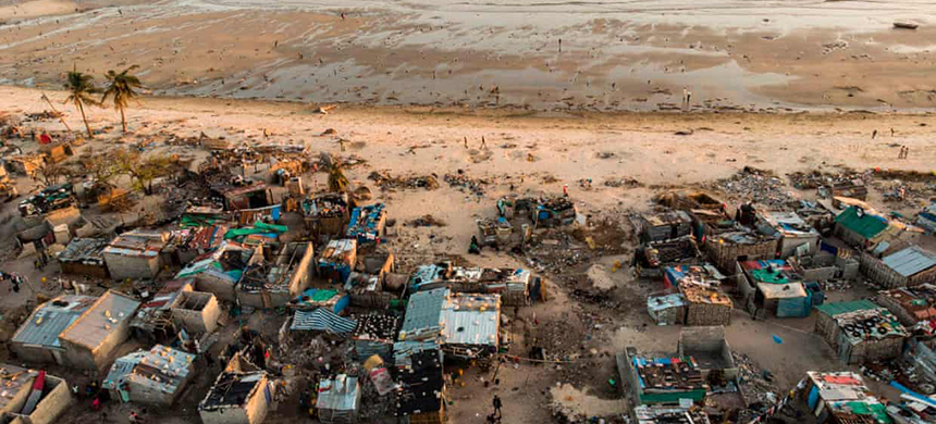 'Catastrophe afflicts people now and, unlike those in the rich world who can still afford to wallow in despair, they are forced to respond in practical ways.' (photo: Guillem Sartorio/AFP/Getty Images)