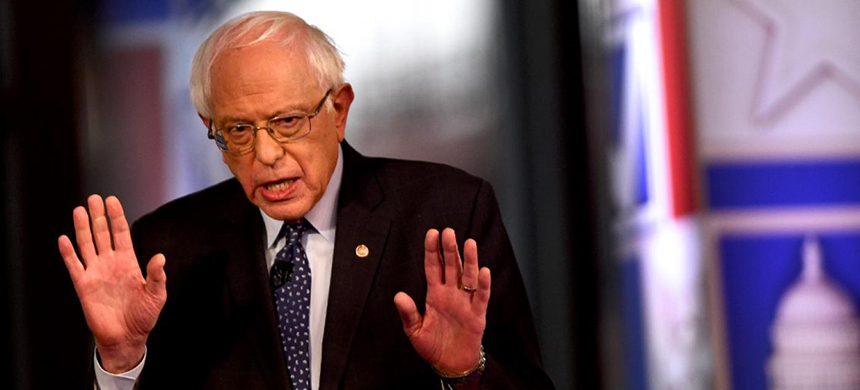 Bernie Sanders's calls on Trump to sign the legislation were met with applause at the Fox News town hall. (photo: AFP)