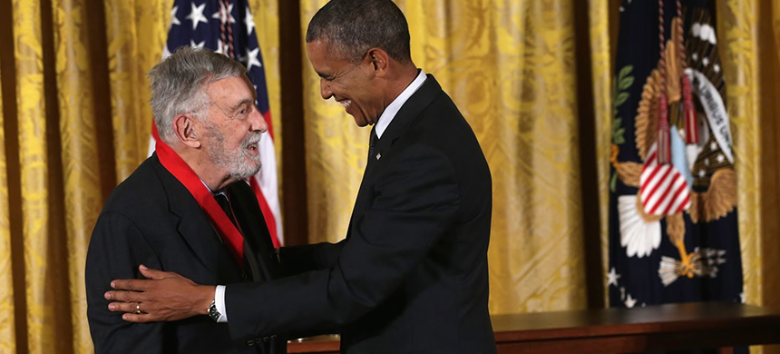 President Barack Obama presents the National Humanities Medal to historian David Brion Davis in 2014. (photo: Alex Wong/Getty Images)