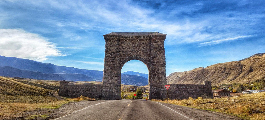 North entrance of Yellowstone National Park. (photo: National Park Service)