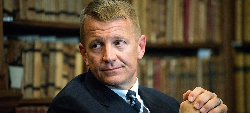 Erik Prince. (photo: The Oxford Union/REX Shutterstock)