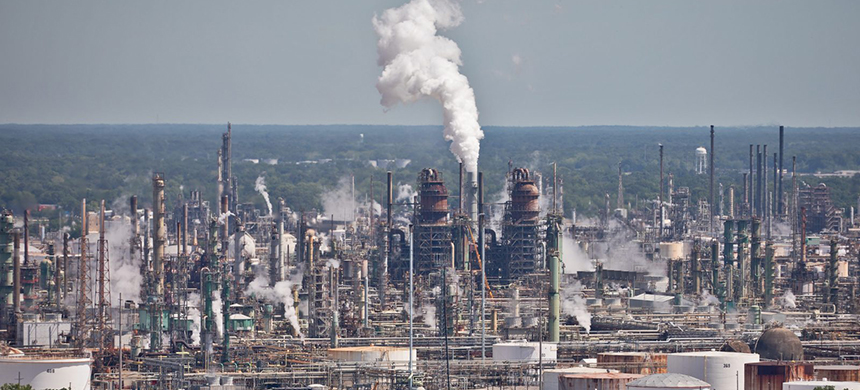 Cenikor sent participants to work at an Exxon refinery in Baton Rouge, Louisiana. (photo: Julie Dermansky/Reveal)