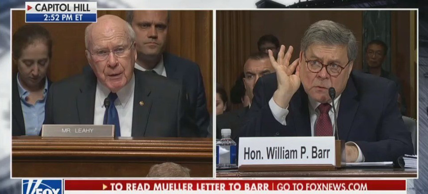 Sen. Patrick Leahy questions attorney General William Barr. (photo: Fox News)