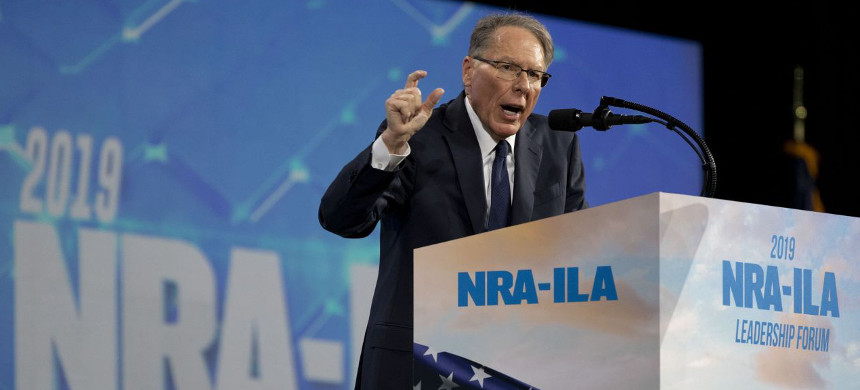 Wayne LaPierre, who spoke Friday at an annual meeting of the National Rifle Association, has been at the top of the organization for three decades. (photo: Daniel Acker/Bloomberg)
