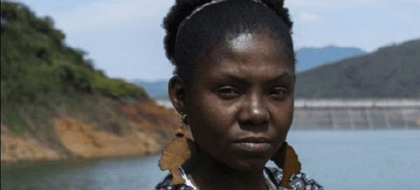 Francia Marquez's fight against illegal mining began when she was 13. (photo: Goldman Prize website)