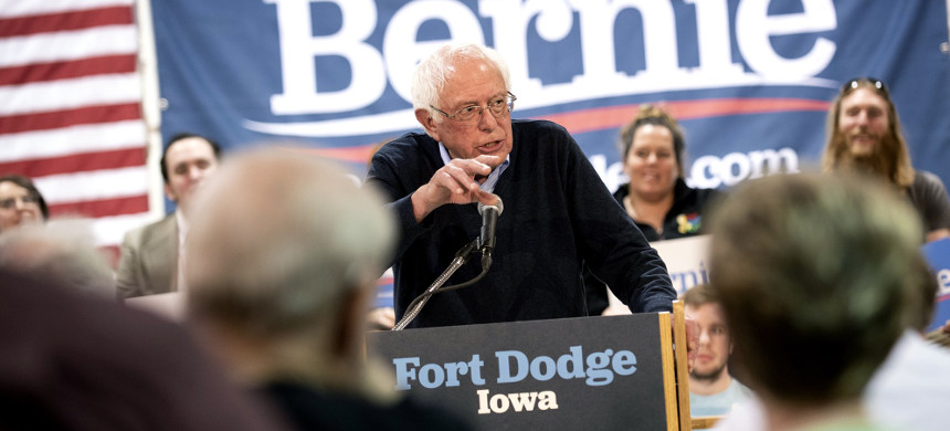 Democratic presidential candidate Sen. Bernie Sanders (I-VT) speaks during a town hall at the Fort Museum on May 4, 2019, in Fort Dodge, Iowa. (photo: Stephen Maturen/Getty)