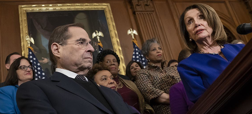 Judiciary Committee Chairman Jerry Nadler and House Speaker Nancy Pelosi. (photo: J. Scott Applewhite/AP)