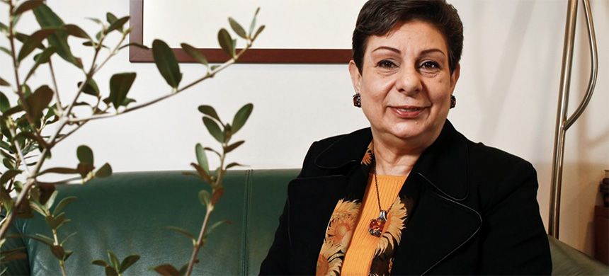 Dr. Hanan Ashrawi in her office in Ramallah, December 14, 2012. (photo: Nir Kafri)