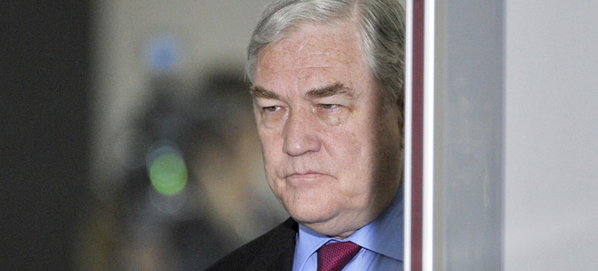 Trump issued a full pardon to Conrad Black, his billionaire friend and author of the 2018 book Donald J. Trump: A President Like No Other. (photo: Brian Kersey/Getty)