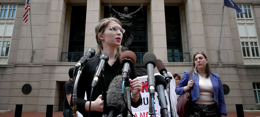 Whistleblower Chelsea Manning. (photo: Win McNamee/Getty)