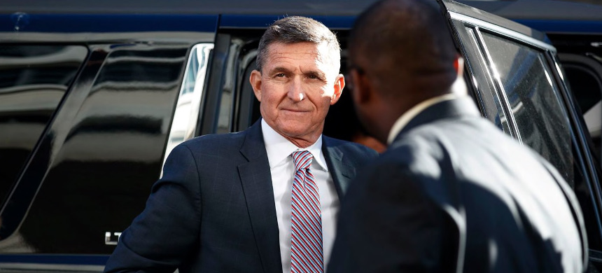 Michael Flynn arriving in December at federal court in Washington. (photo: Carolyn Kaster/AP)