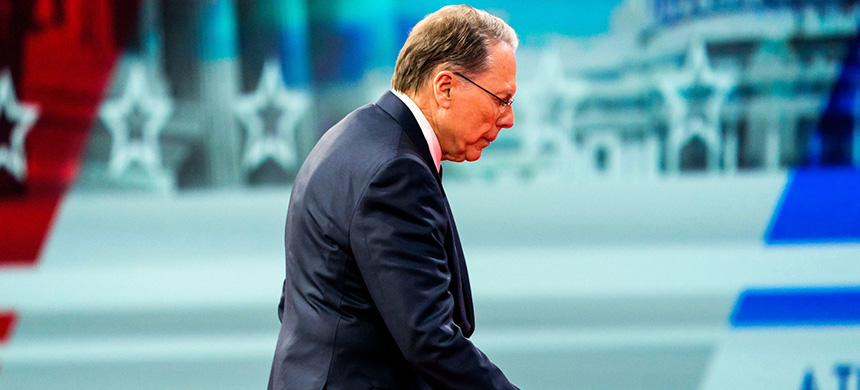 National Rifle Association executive vice president and CEO Wayne LaPierre is under fire for excessive 'wardrobe' expenses after allegedly running up charges of $270,000 at a Beverly Hills boutique. (photo: Jim Lo Scalzo/EPA-EFE/REX)