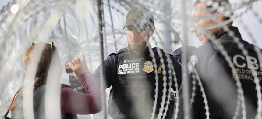 'The diversion of law enforcement and national security personnel to the border has concerned some congressional Democrats, who say it may be a misuse of limited government resources.' (photo: John Moore/Getty Images)