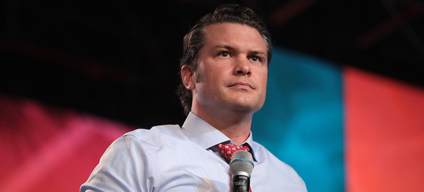 Pete Hegseth, a Fox & Friends co-host and buddy and informal adviser of the president. (photo: Roy Rochlin/Getty)