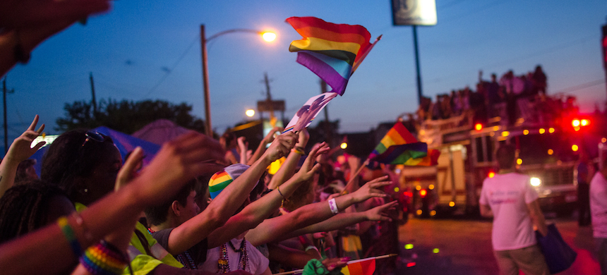 A rally for LGBT rights. (photo: Jon Shapley/Corbis)