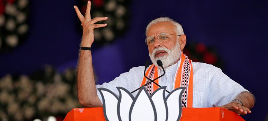 Narendra Modi led his Bharatiya Janata Party to a landslide win on the back of a divisive campaign. (photo: Amit Dave/Reuters)