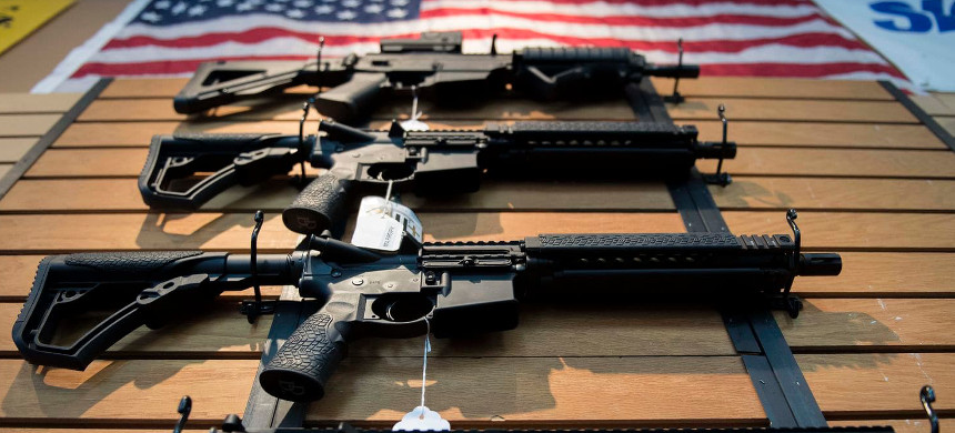 Rifles for sale at a Virginia store. (photo: Jim Watson/Getty Images)