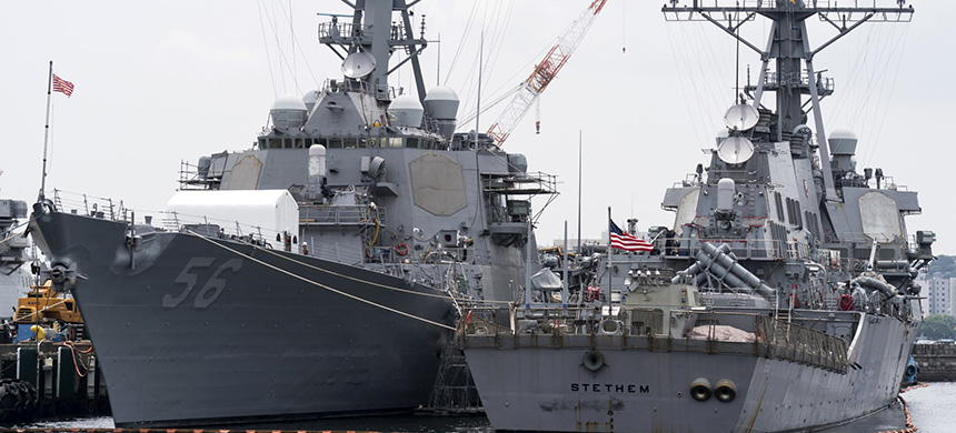 The U.S.S. John S. McCain. (photo: Getty Images)