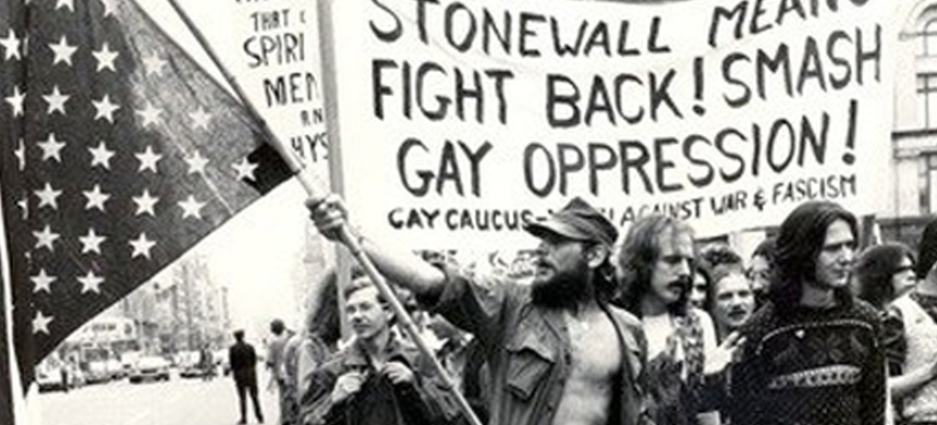 On June 28, 1969, in a gay bar called the Stonewall Inn on Christopher Street in New York City, a police raid sparked rioting, in what became the genesis of the pride movement today. (photo: CBS)