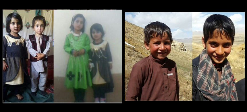 Photos of children killed in U.S. airstrike. (photo: Masih Ur-Rahman Mubarez)