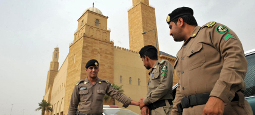 Saudi policemen. (photo: Getty Images)