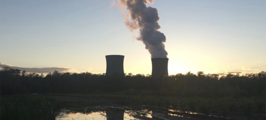 The Perry Nuclear Power Plant in North Perry, Ohio, at sunset on May 9, 2017. (photo: Tim Warsinskey/The Plain Dealer)