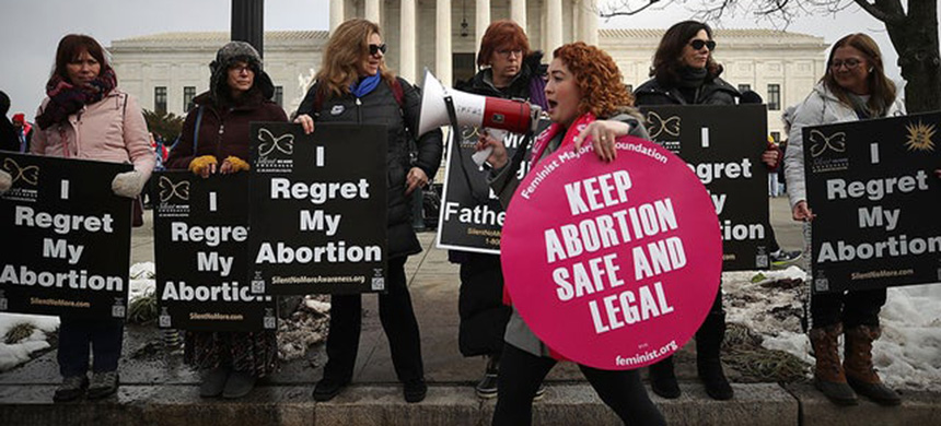 Abortion protests. (photo: Getty Images)
