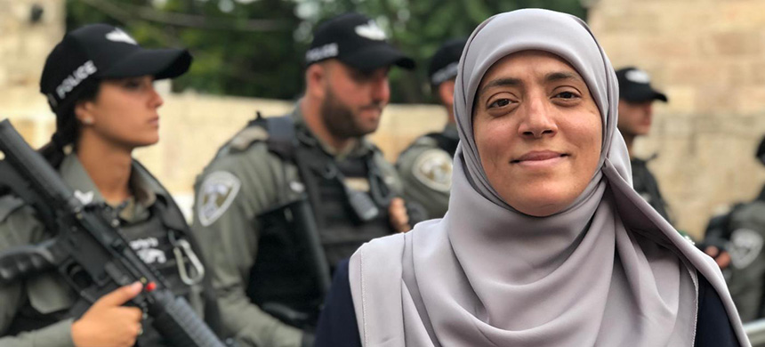Khadija Khweiss has been repeatedly prevented from accessing Al-Aqsa because of her activism. (photo: Juman Abu Arafeh/MEE)