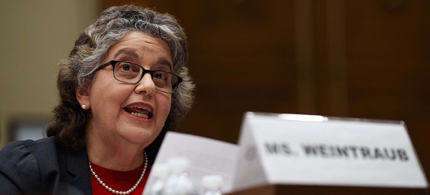 Federal Election Commission chief Ellen Weintraub reiterated that foreign assistance is illegal in U.S. elections. (photo: Carolyn Kaster/AP)