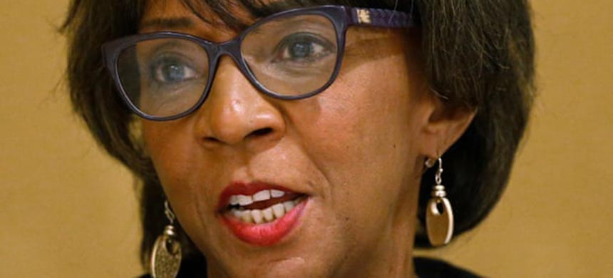 The Los Angeles county district attorney, Jackie Lacey, has continued to pursue death penalty trials despite a state moratorium on the practice. (photo: Rick Bowmer/AP)