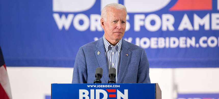 Former Vice President Joe Biden speaks at a campaign event in New Hampshire. Biden came under fire from fellow Democrats after his remarks on working with segregationists during his time in the U.S. Senate. (photo: Scott Elsen/Getty)