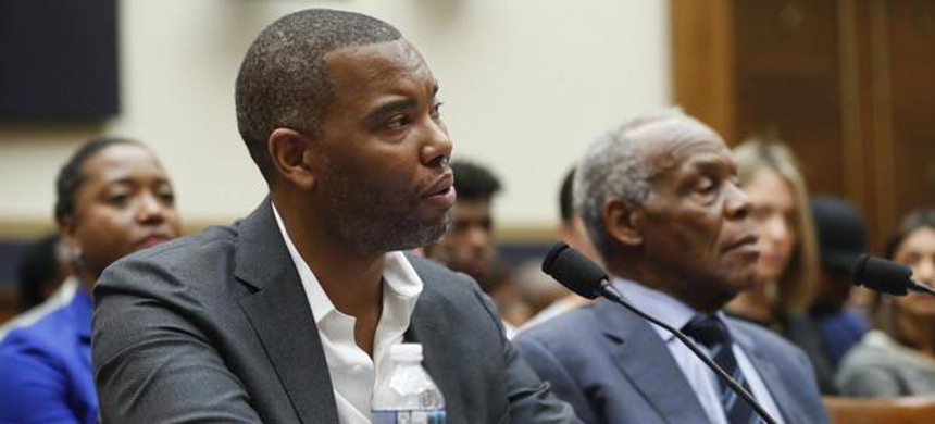 Writer Ta-Nehisi Coates and actor Danny Glover were among the witnesses who testified before the panel on reparations. (photo: CBS)
